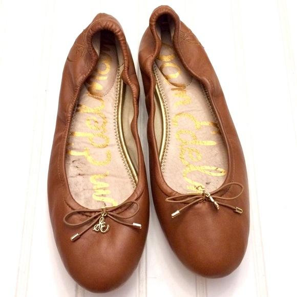 f40ca55f7b9 Sam Edelman Felicia saddle brown leather flats. M 5a38381a61ca10c7a900349c